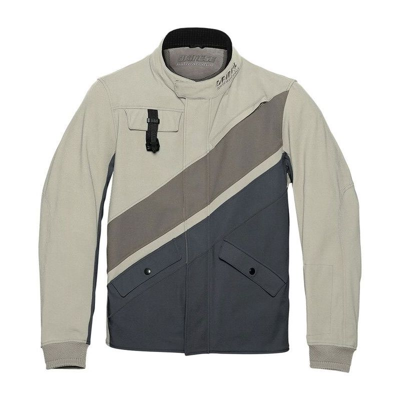 GIACCA DAINESE SETTANTADUE KAYES FEATHER GREY/BUNGEE CORD/EBONY