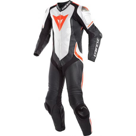 TUTA DAINESE LAGUNA SECA 4 1PC PERF. BLACK/WHITE/FLUO-RED