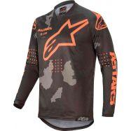 MAGLIA ALPINESTARS RACER TACTICAL JERSEY BLACK/GRAY CAMO/ORANGE FLUO