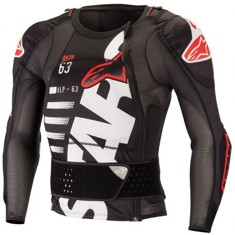 PROTEZIONE ALPINESTARS SEQUENCE PROTECTION JACKET LS BLACK/WHITE/RED