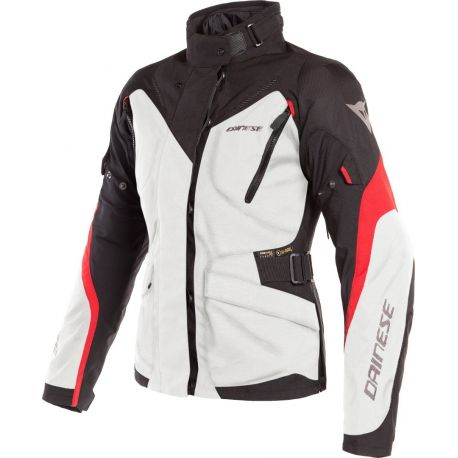 GIACCA DONNA DAINESE TEMPEST 2 LADY D-DRY LIGHT GRAY/BLACK/RED