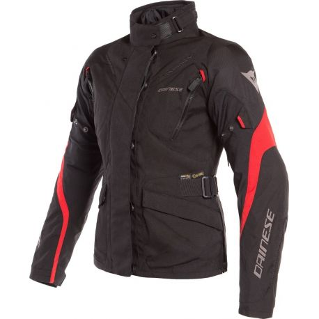 GIACCA DONNA DAINESE TEMPEST 2 LADY D-DRY BLACK/BLACK/RED