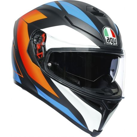 CASCO AGV K-5 S CORE MATT BLACK/BLUE/ORANGE