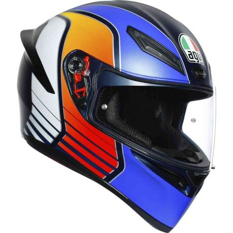 CASCO AGV K-1 POWER MATT DARK BLUE/ORANGE/WHITE