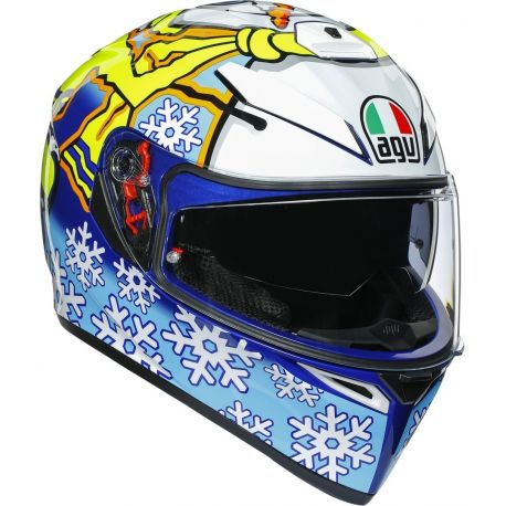 CASCO AGV K-3 SV TOP ROSSI WINTER TEST 2016