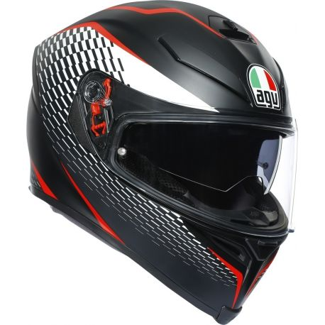 CASCO K-5 S AGV MULTI THUNDER BLACK/WHITE/RED