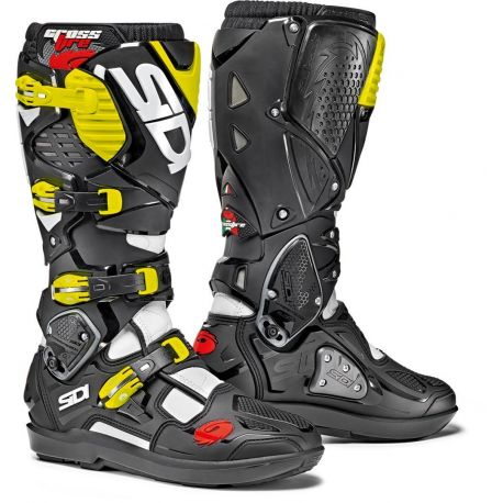 STIVALI SIDI CROSSFIRE 3 SRS BLACK/WHITE/YELLOW FLUO