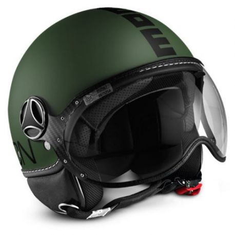 CASCO MOMO DESIGN FGTR CLASSIC MILIT.GREEN MATT/BLACK