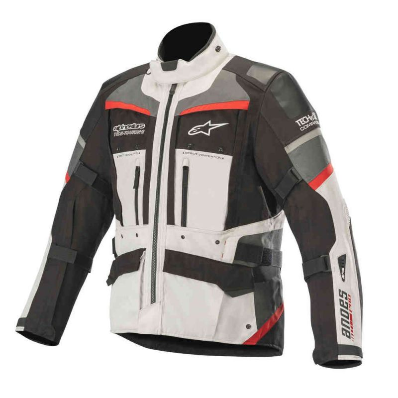 GIACCA ALPINESTARS ANDES PRO DRYSTAR TECH-AIR COMPATIBLE LIGHT GREY/BLACK/RED