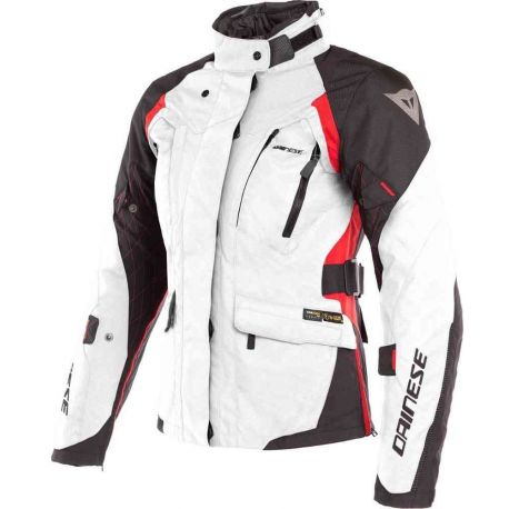 GIACCA DONNA DAINESE X-TOURER LADY D-DRY LIGHT-GREY/BLACK/RED