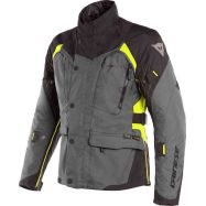 GIACCA DONNA DAINESE X-TOURER LADY D-DRY EBONY/BLACK/FLUO-YELLOW