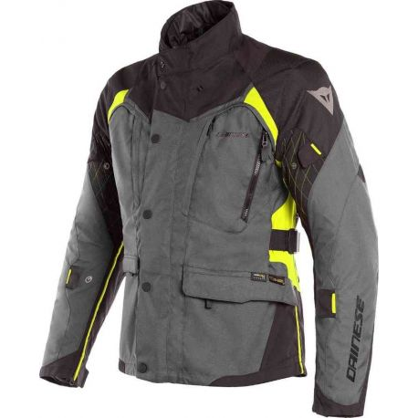 GIACCA DAINESE X-TOURER LADY D-DRY EBONY/BLACK/FLUO-YELLOW