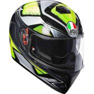 CASCO AGV K-3 SV MULTI LIQUEFI GRAY/YELLOW FL