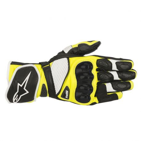 GUANTO ALPINESTARS SP-1 V2 BLACK/WHITE/YELLOW FLUO