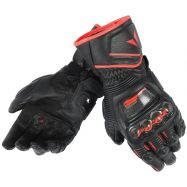 GUANTO DAINESE DAINESE PELLE DRUID D1 LONG BLACK/RED FLUO