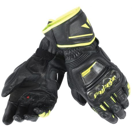GUANTO DAINESE DAINESE PELLE DRUID D1 LONG BLACK/FLUO YELLOW