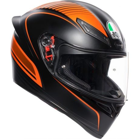 CASCO AGV K-1 WARMUP BLACK/ORANGE