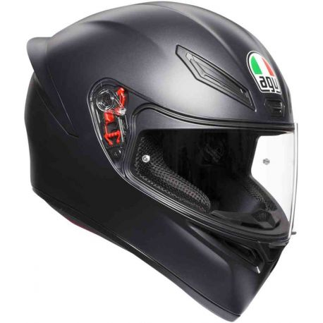 CASCO AGV K-1 SOLID BLACK MATT